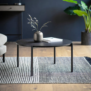 The Iona Circular Coffee Table in Black