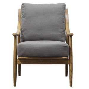 The Conrad Armchair in Dark Grey Linen