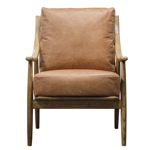 The Conrad Armchair in Brown Leather