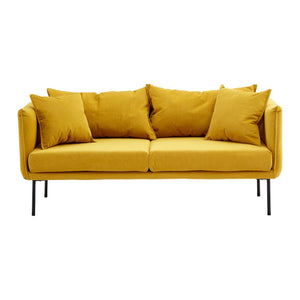 Hague 2 Seat Yellow Sofa