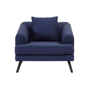 Miko Navy Fabric Chair