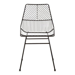 Redfern Black Metal Wire Chair