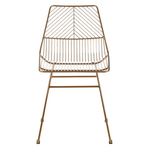 Redfern Gold Metal Wire Chair