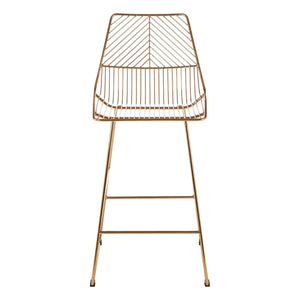 Cultiver Gold Metal Wire Chair