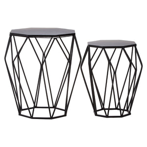 Westwood Black Metal Tables, Set of 2