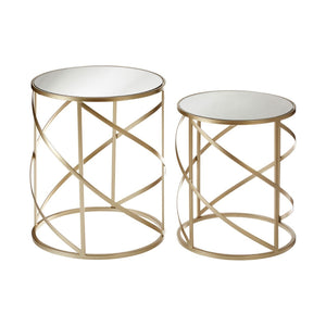 Seminyak Mirror Top Tables, Set of 2