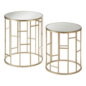 Banda Mirror Top Tables, Set of 2