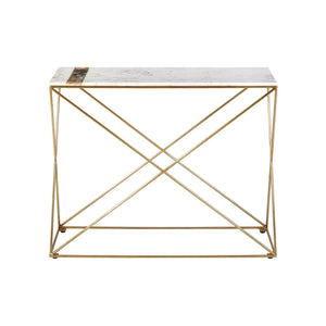 Darlinghurst Marble, Agate and Brass Console Table