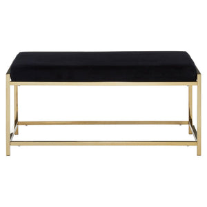 Shanghai Black and Gold Ottoman