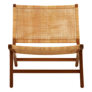 Byron Teak and Rattan Lounge Chair
