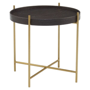 Marina  Black and Gold Side Table