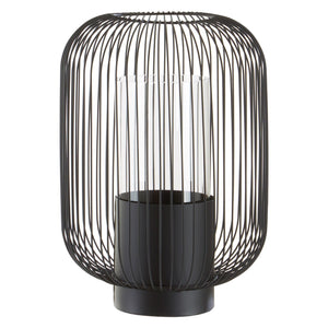 Liberty Lantern, Black Metal / Clear Glass, Large