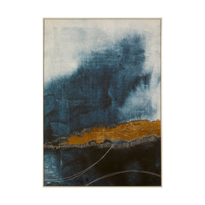 Abstract Gold & Blue Wall Art