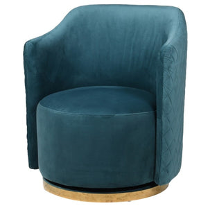 Dolores Teal Swivel Chair