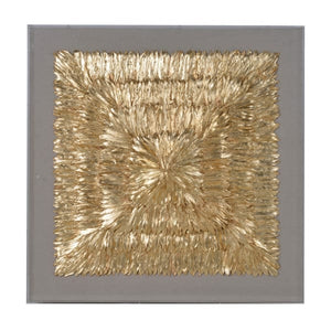 Gold Feather Wall Art
