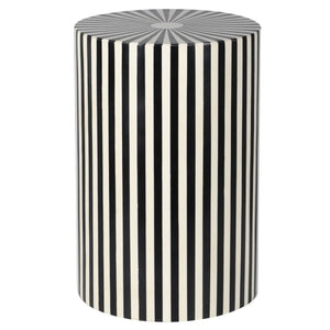 Monochrome Stripe Side Table