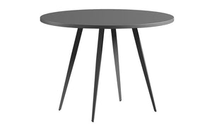 Dark Grey Circular Dining Table