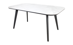 Dining Table with White Marbled Porcelain Top