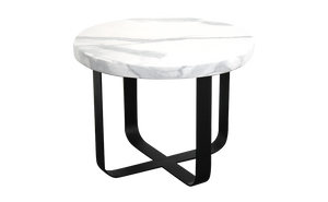 Side Table with Marble Effect Top