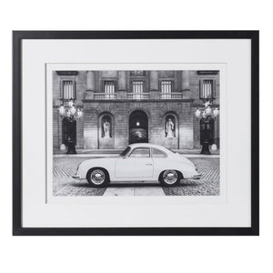 Framed Photograph of Vintage Porsche