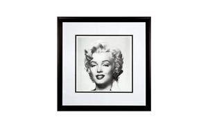 Marilyn Monroe Black and White Framed Print