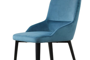 Set of Two Velvet Dining Chairs in Teal