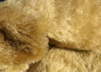 Caramel is a gorgeous blond mohair with a hint of green and a soft and fluffy 20 mm pile. It's a great colour for medium and large traditional teddy bears, the green tinge makes it particularly suitable for bears you want to look old and have a bit of character.