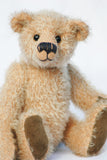 Makepeace bear in Biscuit mohair by Make A Teddy