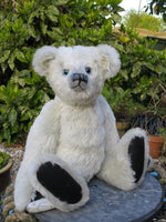 A bear made in one of our bear making workshops using the Winston pattern
