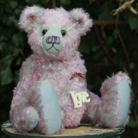 Marlowe PRINTED traditional jointed mohair teddy bear sewing pattern by Barbara-Ann Bears