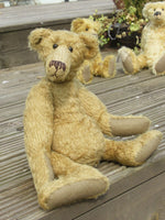 Hank PRINTED jointed mohair teddy bear sewing pattern to make a quirky 15 inch Barbara-Ann Bear