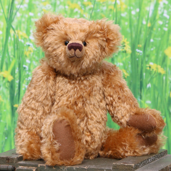 Fosdyke PRINTED traditional jointed mohair 14 inch teddy bear sewing pattern by Barbara-Ann Bears