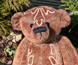 Bertie PRINTED sewing pattern for an 11 inch  jointed mohair teddy bear by Barbara-Ann Bear