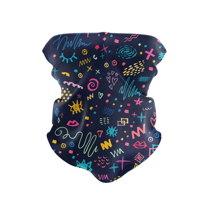 Notebook Doodles Reusable Neck Gaiter and Face Shield