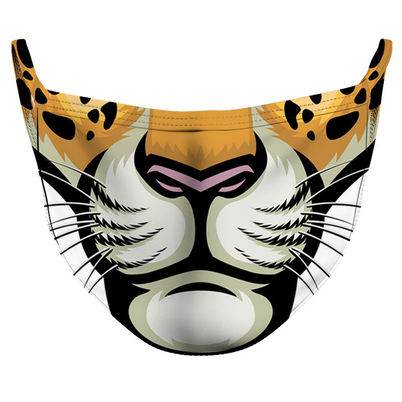 Tiger Mouth Reusable Double Layer Cloth Face Mask and Covering