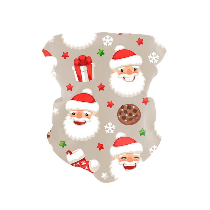 Happy Santa Reusable Neck Gaiter and Face Shield