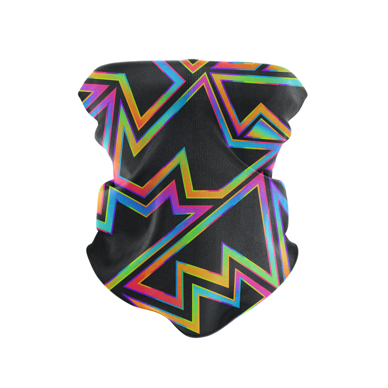 Rainbow Graffiti Reusable Neck Gaiter and Face Shield