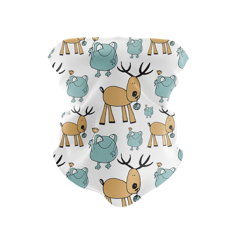Frogs & Deer Reusable Neck Gaiter and Face Shield
