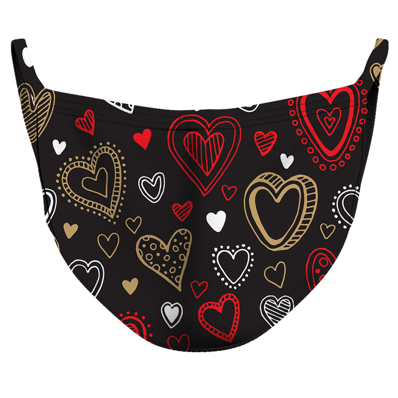 Beating Hearts Reusable Double Layer Cloth Face Mask and Covering