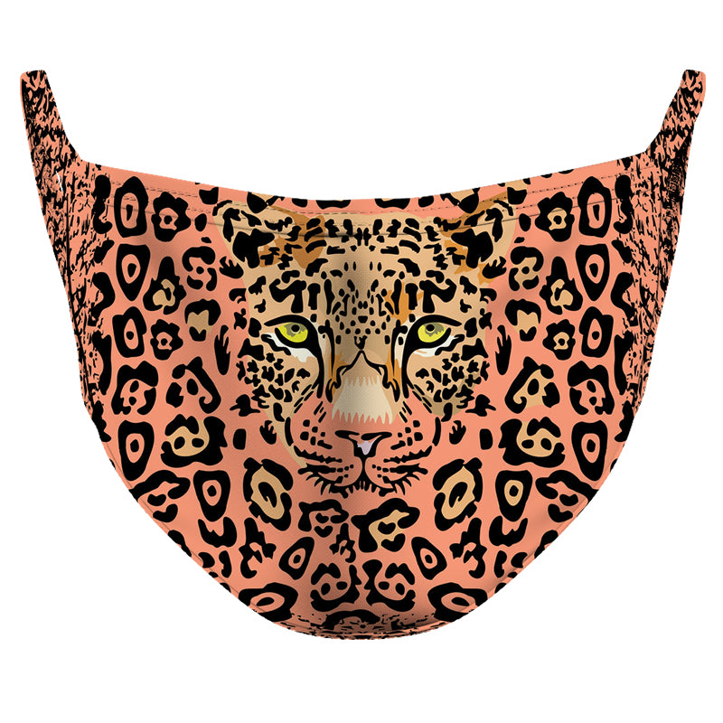 Big Cat Camouflage Reusable Double Layer Cloth Face Mask and Covering