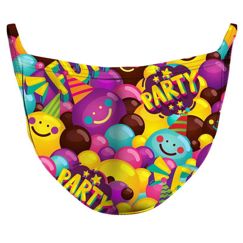 Birthday Party 2 Reusable Double Layer Cloth Face Mask and Covering