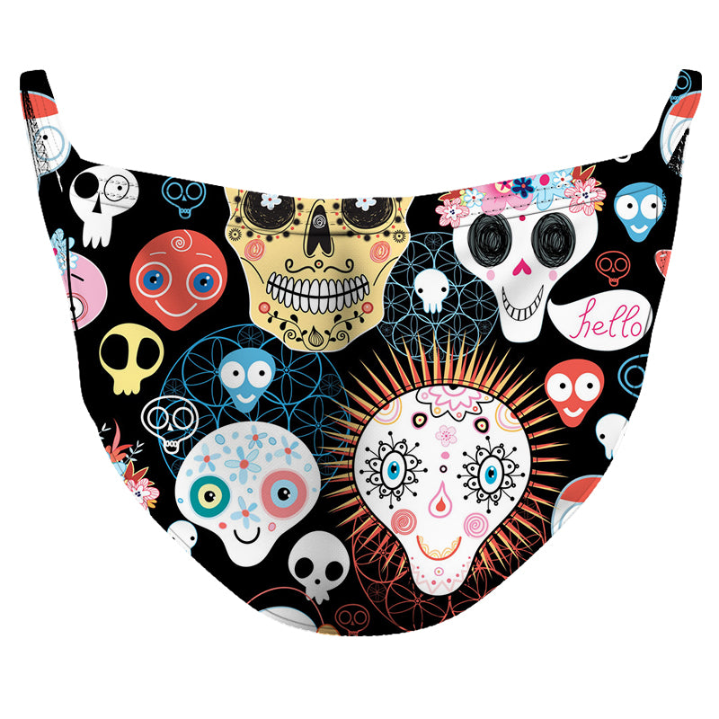 Calaveritas de Azucar Reusable Double Layer Cloth Face Mask and Covering