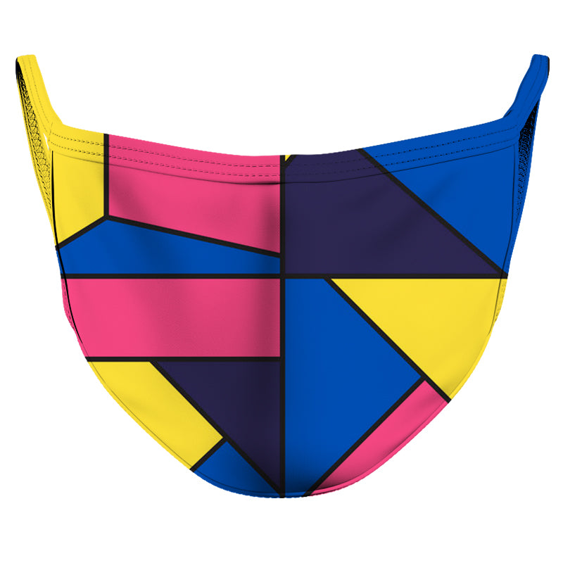 Cubism Reusable Double Layer Cloth Face Mask and Covering
