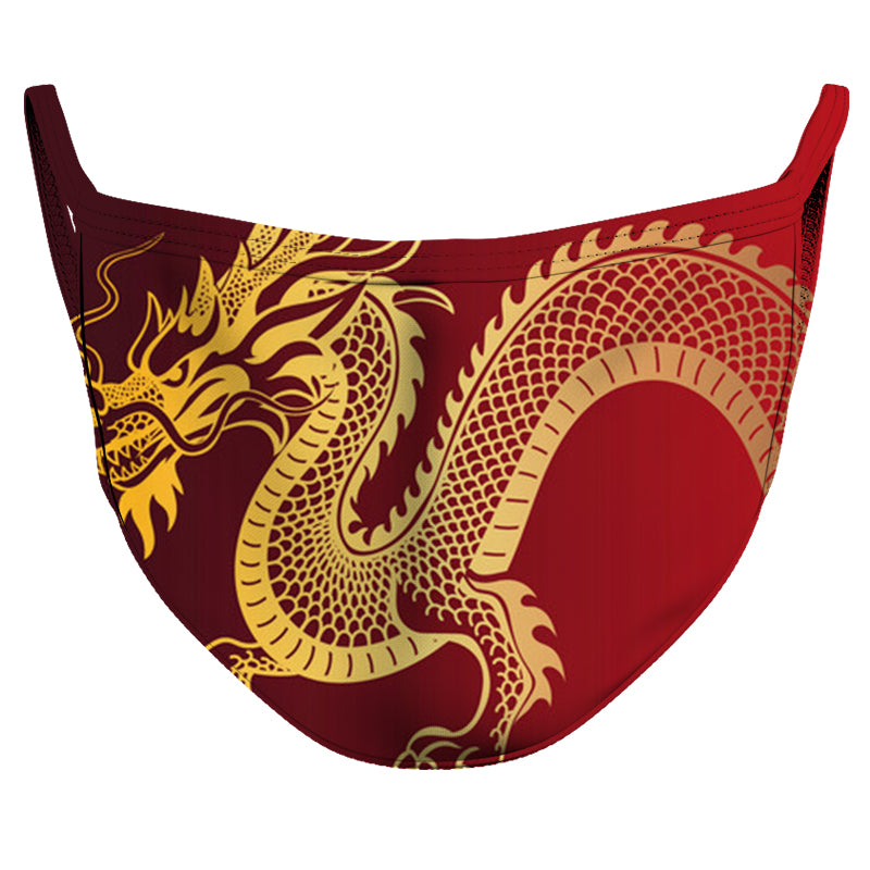Dragon Year Reusable Double Layer Cloth Face Mask and Covering