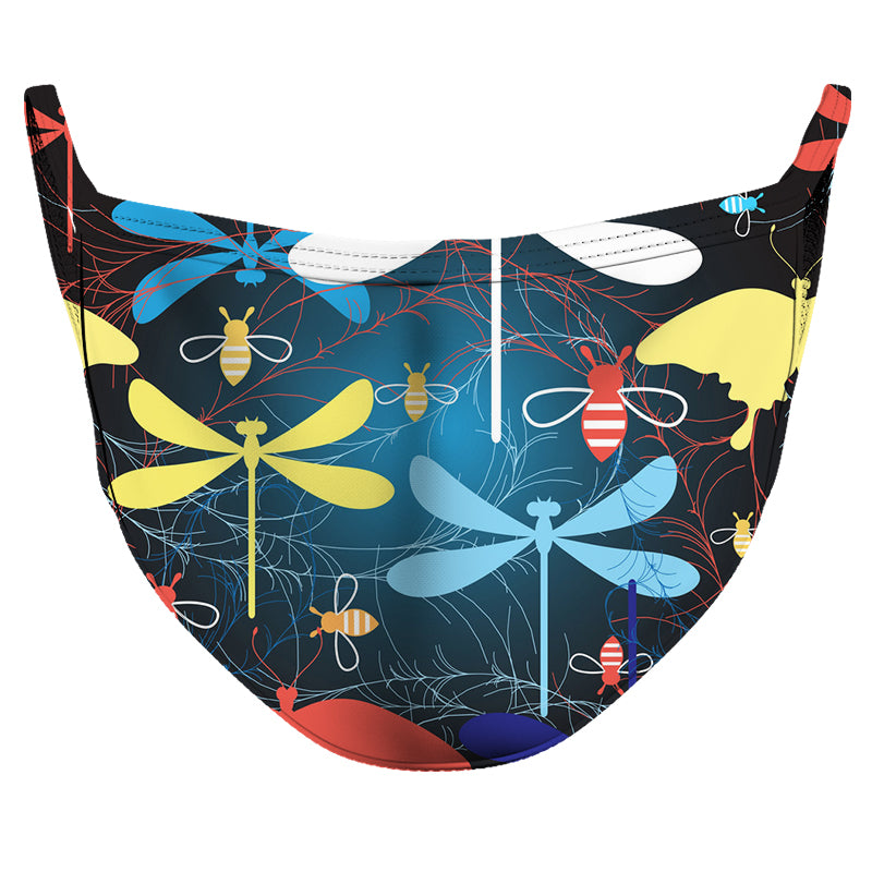 Dragonflies Everywhere Reusable Double Layer Cloth Face Mask and Covering