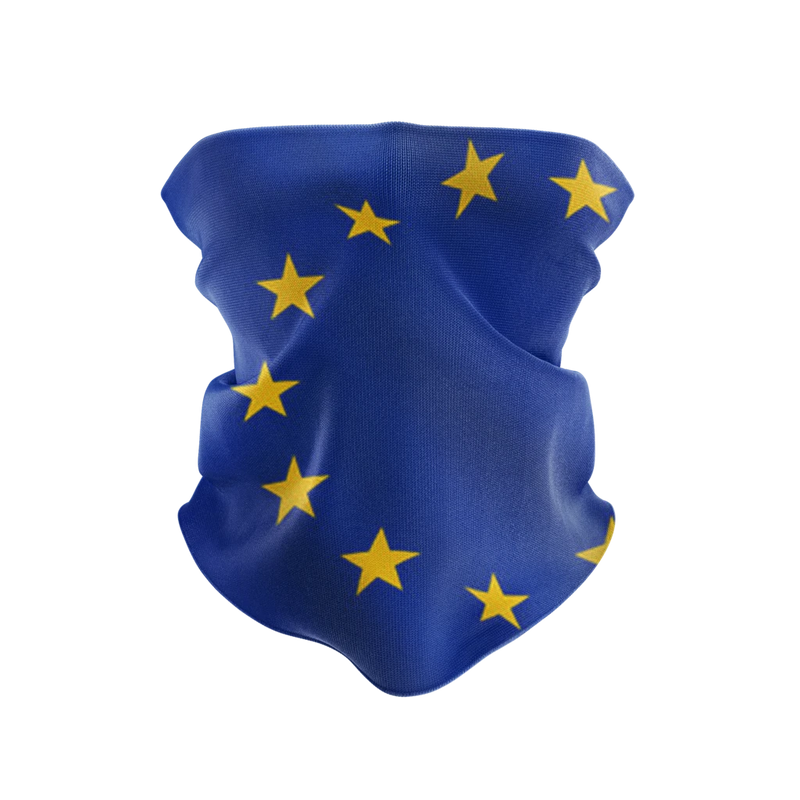 European Union Gaiter Reusable Neck Gaiter and Face Shield