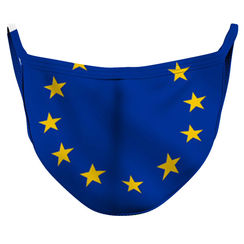European Union Reusable Double Layer Cloth Face Mask and Covering