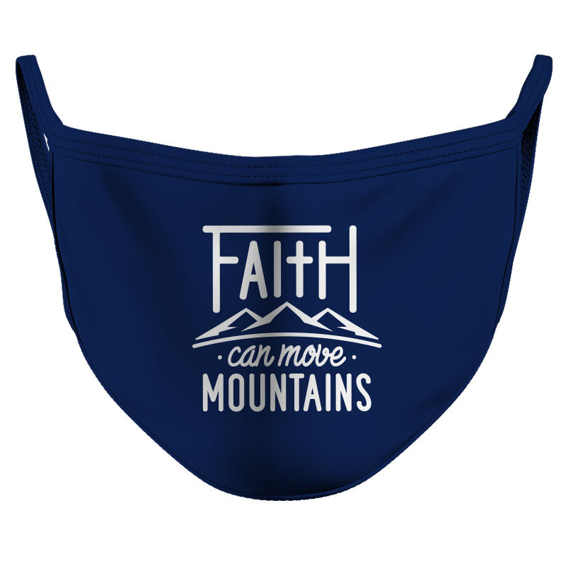 Faith Can Move Mountains Reusable Double Layer Cloth Face Mask and Covering