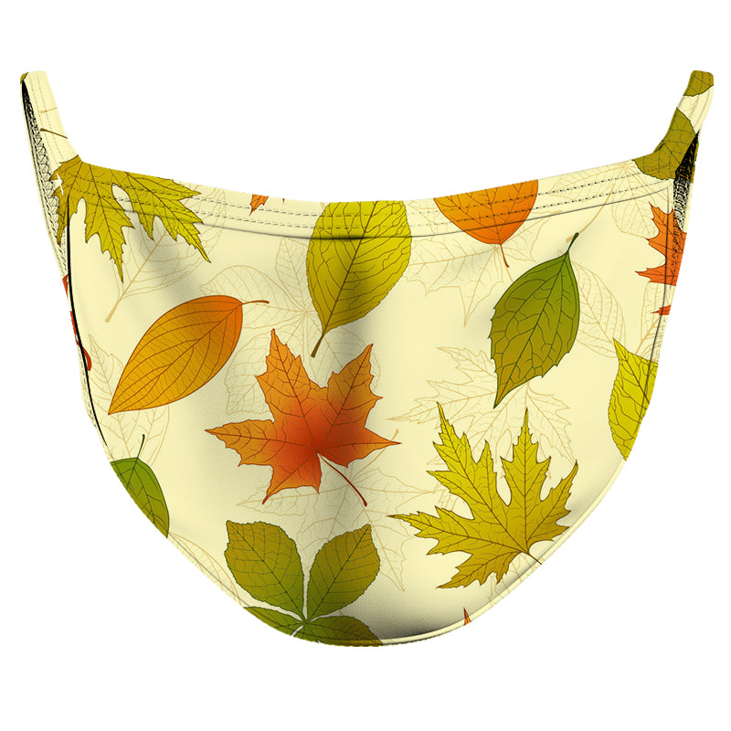 Falling Leaves Reusable Double Layer Cloth Face Mask and Covering