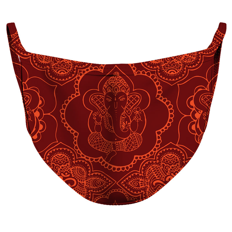 Ganesha Reusable Double Layer Cloth Face Mask and Covering